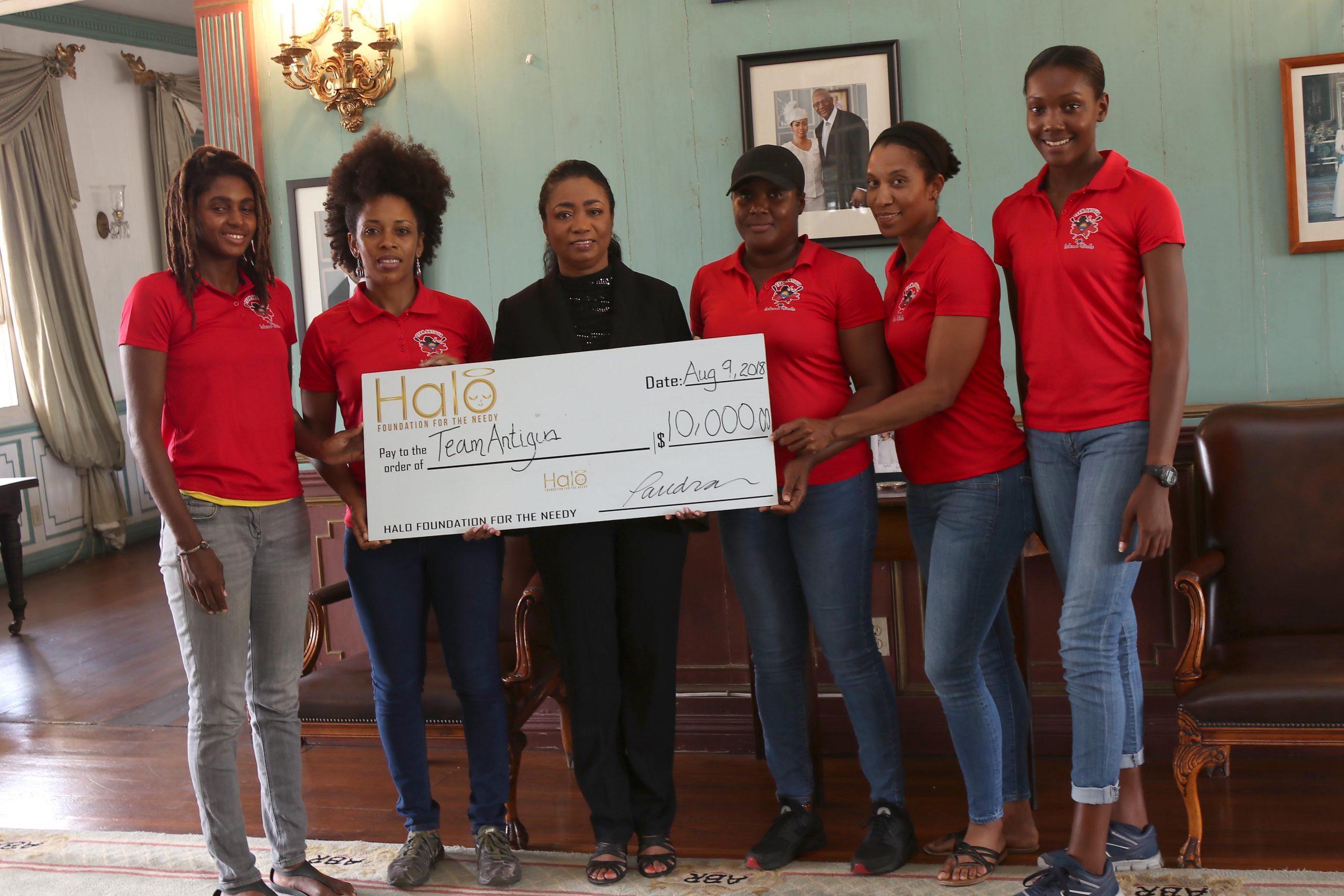 Halo Foundation Donates $10K to Team Antigua Island Girls