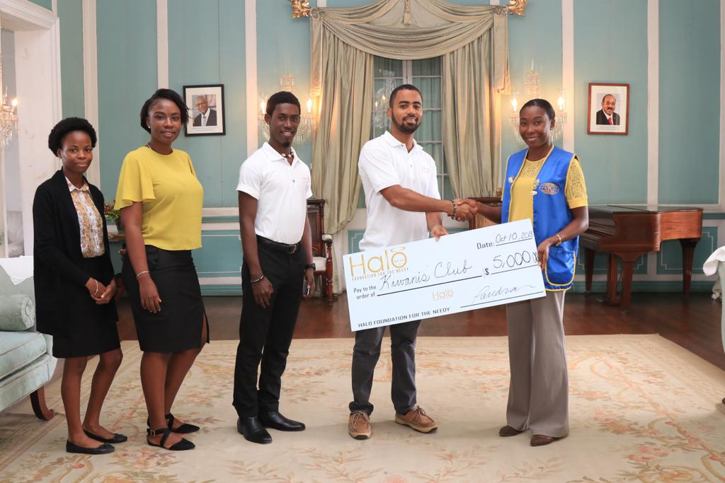 Halo Youth Make Timely Donation to Kiwanis