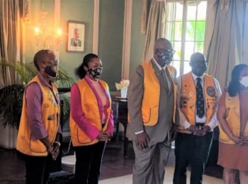Their Excellencies inducted as Honorary Lions