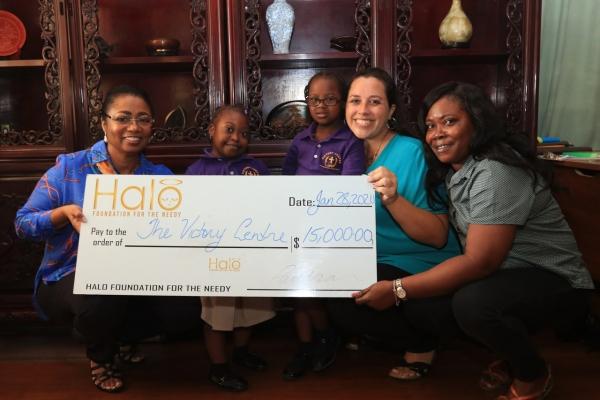 Halo donates $15,000 to Victory Centre