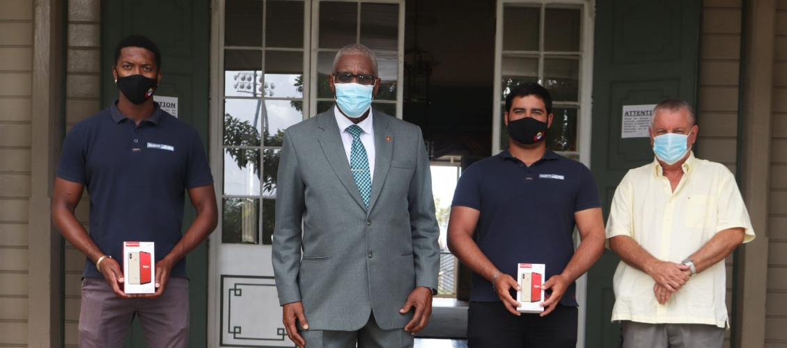 The Governor General Gives Team Antigua Pairs A Grand Send Off