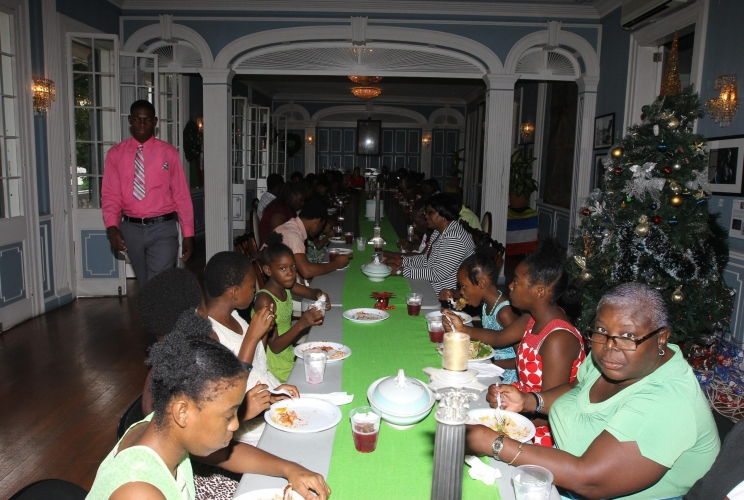 RESIDENTS OF THREE RESIDENTIAL INSTITUTIONS FOR YOUTHS ENJOY LUNCH AT GOVERNMENT HOUSE