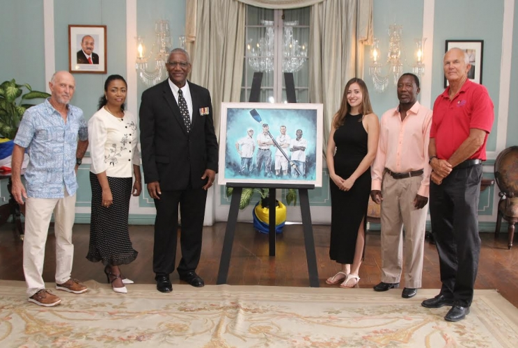 Commemorative Painting of Atlantic Rowers' Heroic Journey to be Auctioned at Wings of Charity Gala