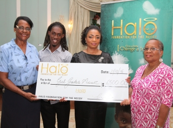 Girl Guides receive Halo donation