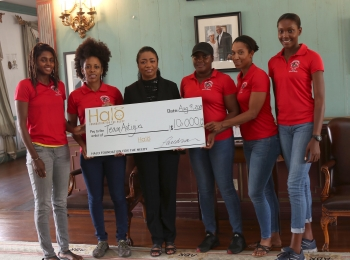 Halo Foundation Donates $10K to Team Antigua Island Girls